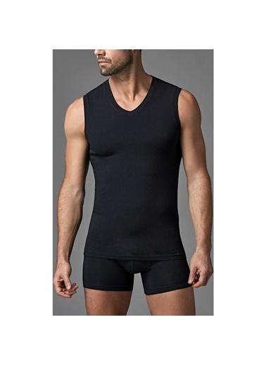 Dagi Compact Kolsuz V Yaka T-Shirt Siyah